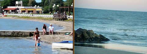 Playas y balnearios en mar chiquita la costa buenos aires argentina